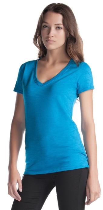 Bamboo Slub V Neck T Shirt Canadian Made Socially