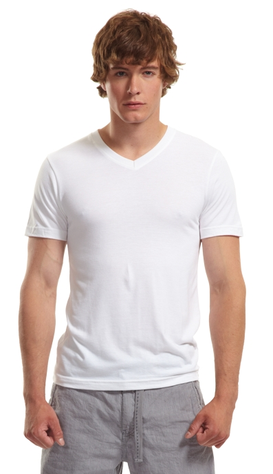 Bamboo Slim Fit V Neck T Shirt Canadian Made Socially Conscious Apparel Jerico