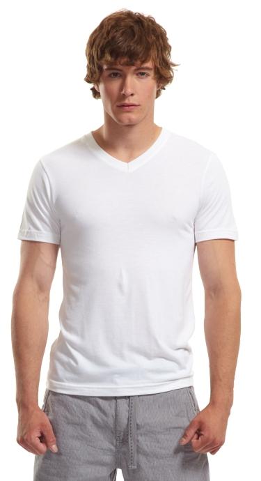 Bamboo Slim Fit V Neck T Shirt Canadian Made Socially